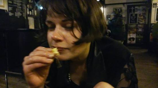 Eating nachos at the Fringe (2014)
